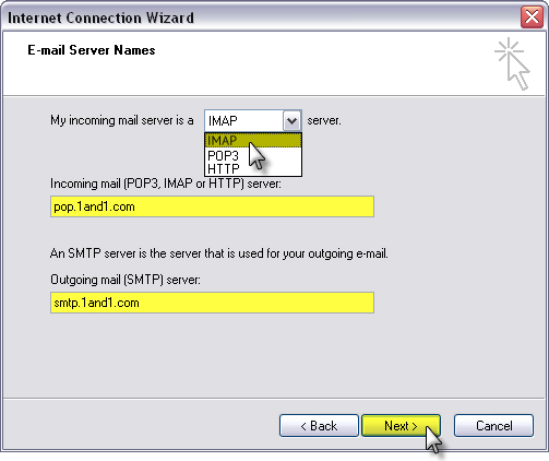 Setup 1AND1 Mail Using IMAP