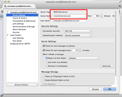Setup BT INTERNET Mail Using IMAP