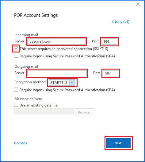Setup Way Mail Using POP