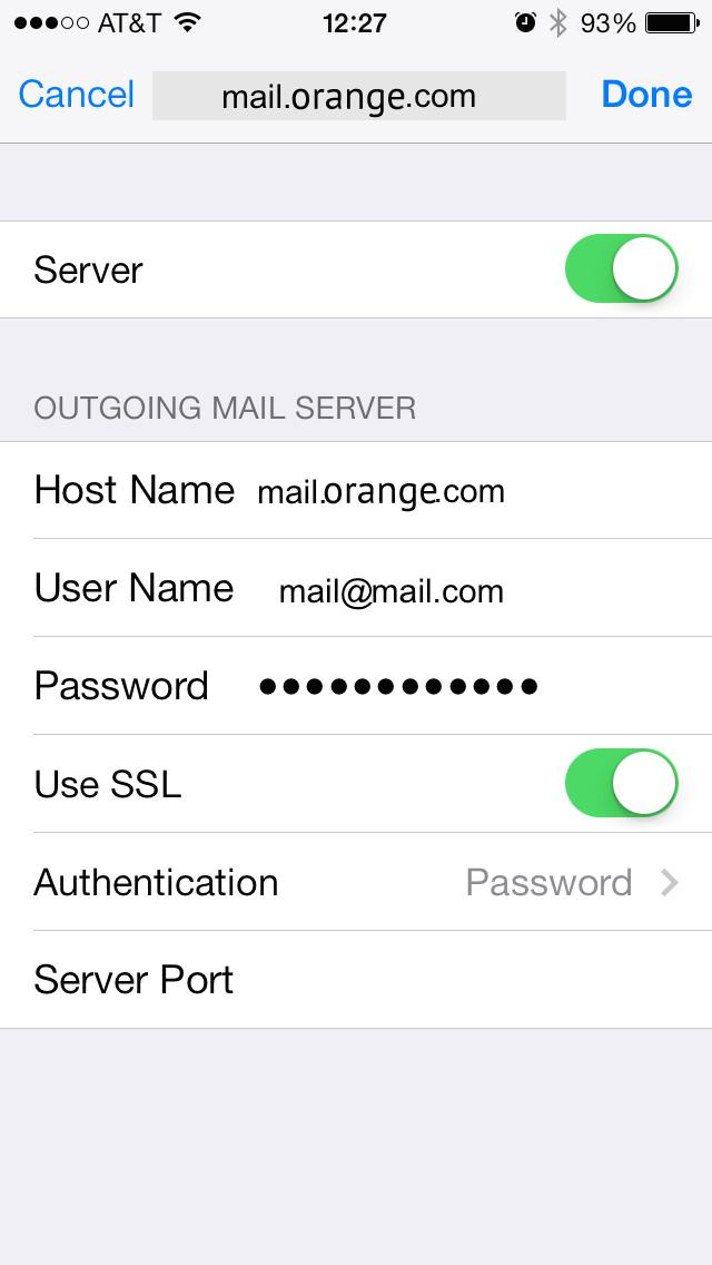 Setup ORANGE Mail Server