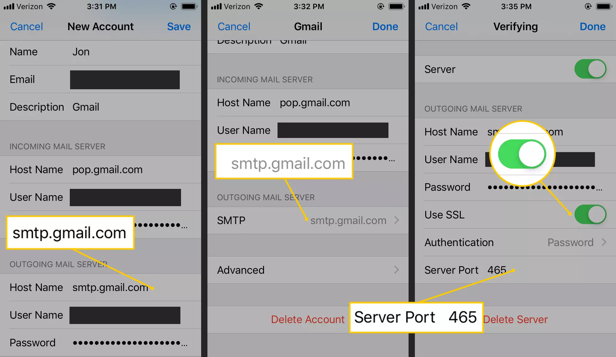 Setup Gmail Mail Server