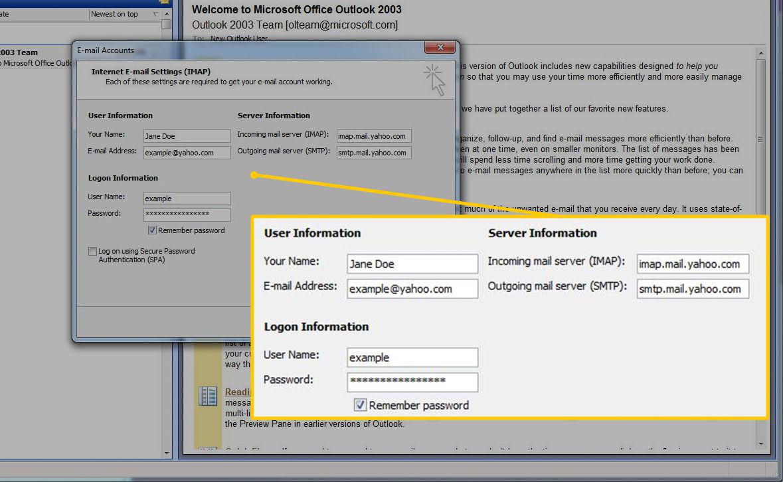 Setup Yahoo Mail Server