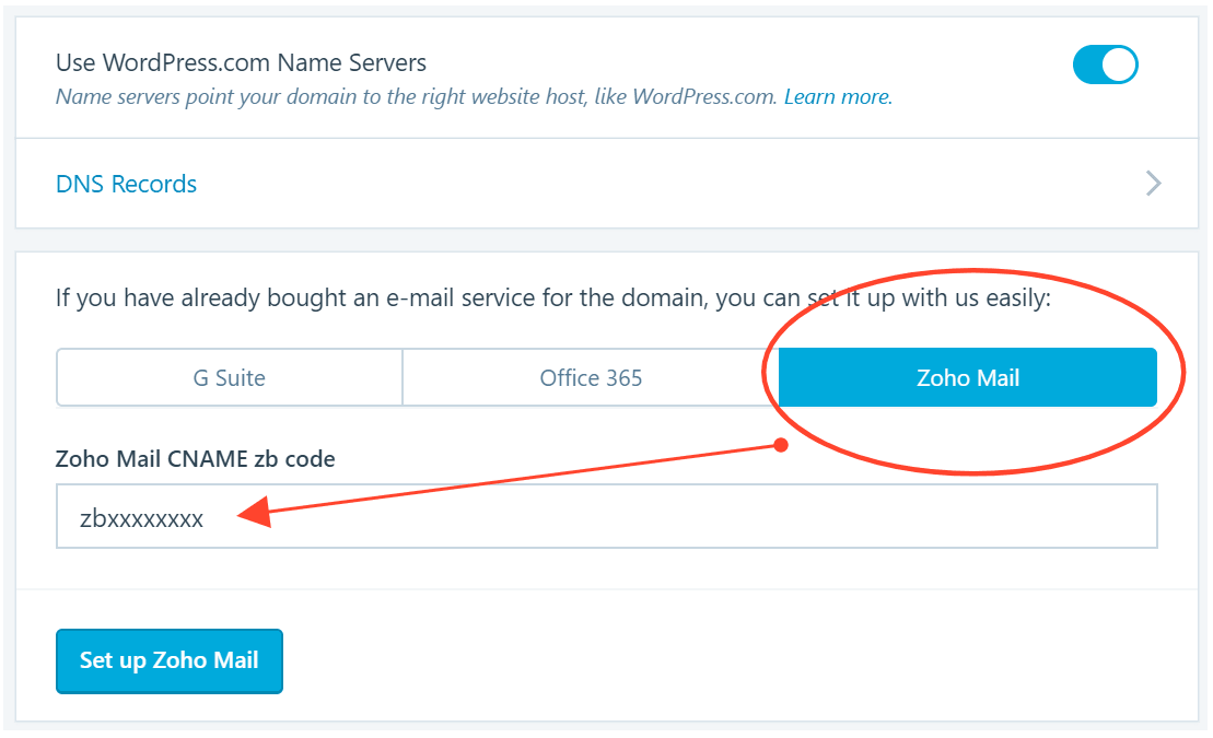 Setup Zoho Mail Server